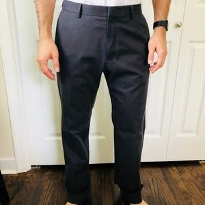 Non-Iron Tailored Slim Fit Charcoal Pants 32x34